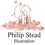 Philip Stead Illustration | A Home for Bird, Jonathan and the Big Blue Boat, Creamed Tuna Fish and Peas on Toast, A Sick Day for Amos McGee, Bear Has a Story to Tell